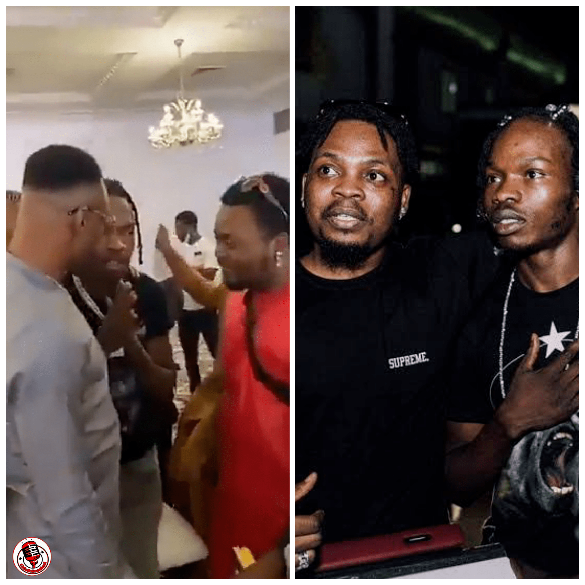 What's Happening?? The Moment Naira Marley Prostrated & Begged Olamide For Forgiveness At Oba Elegushi Birthday Party (Watch Video)