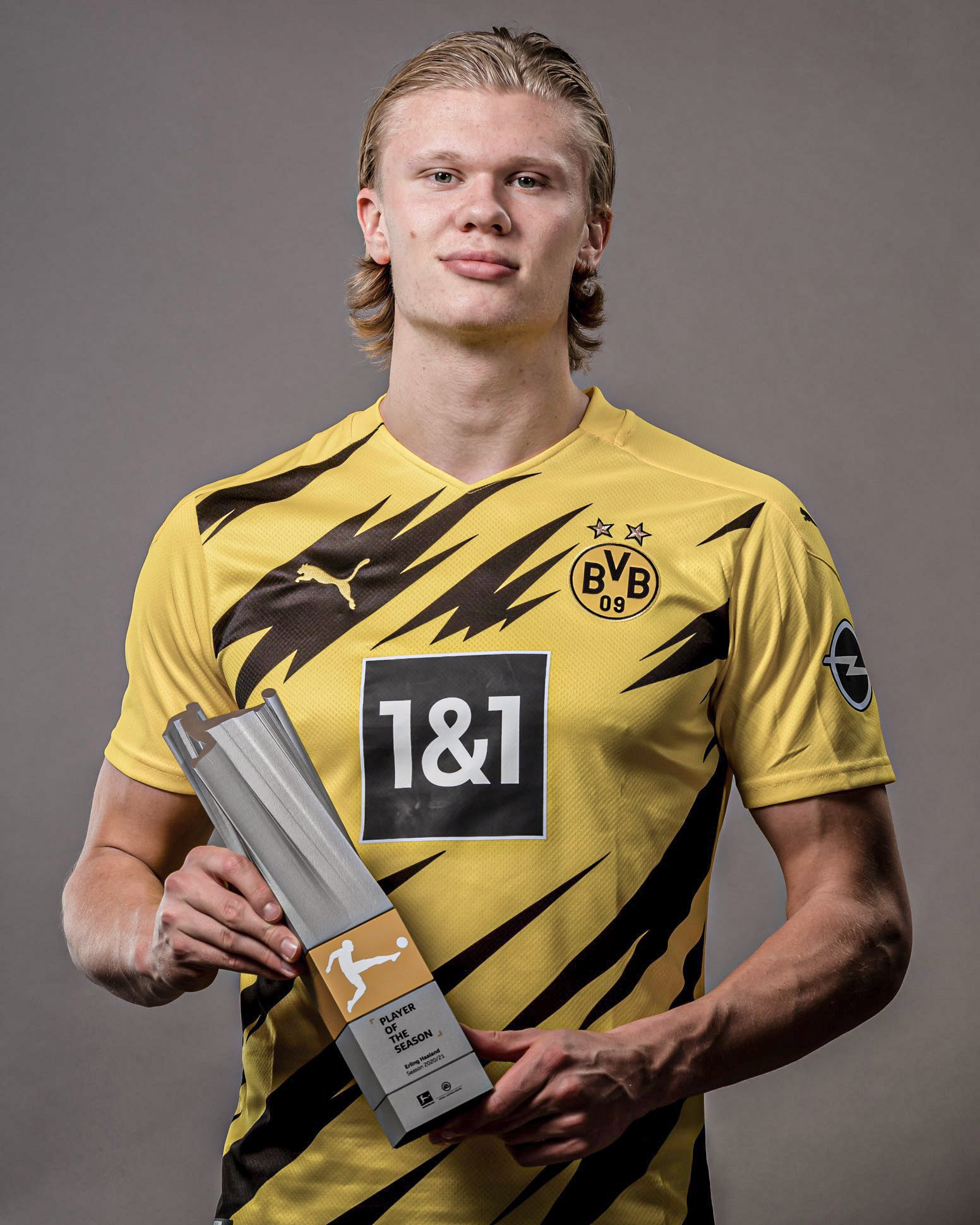 Erling Haaland has won the fan-voted Bundesliga Player of the Year