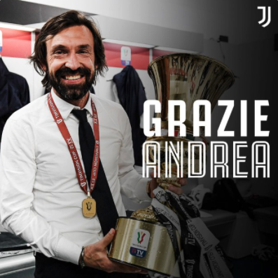 Andrea Pirlo has been sacked by Juventus.
